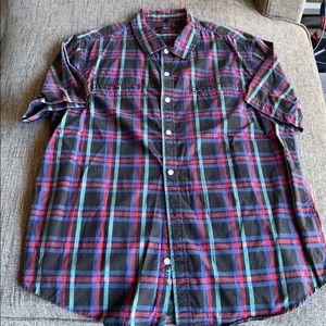 LRG Plaid Button Down Shirt XL